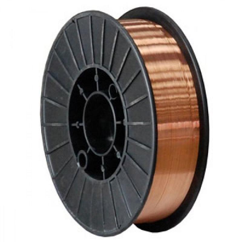 Дріт зварювальний обміднений ER70S-6 (СВ08Г2С) 1.0 мм, 5 кг