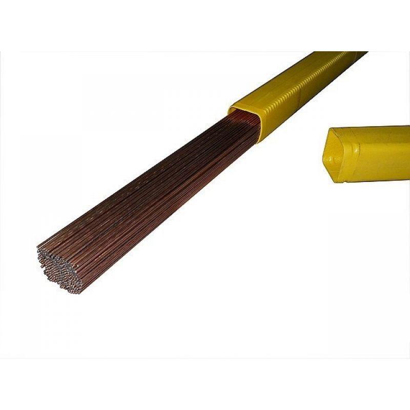 Дротики присаджувальні обміднені ER70S-6 (СВ08Г2С), 3.2 мм, 1 кг, L 1 м