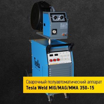 Зварювальний напівавтомат Tesla Weld MIG/MAG/MMA 350-15, фото